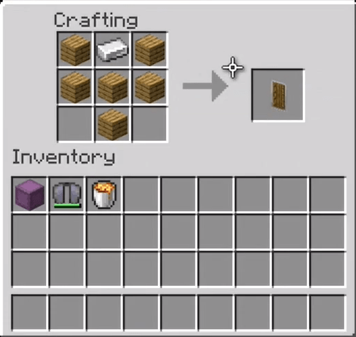Add The Iron Ingot And Planks To The Menu