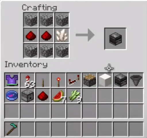 Add observer items to crafting table