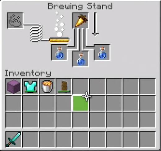 Add The Second Night Vision Potion Ingredient To The Menu