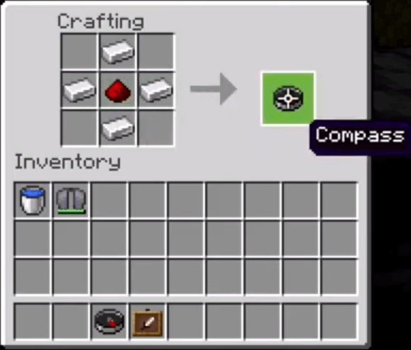 Add The Iron Ingots And Redstone Dust To The Menu