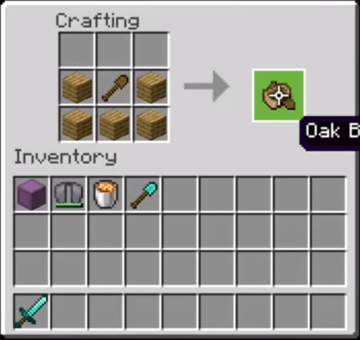 Add The Wood Planks And Wooden Shovel To The Menu