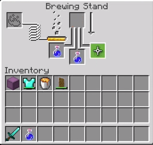 How to make a night vision potion in Minecraft 8:00