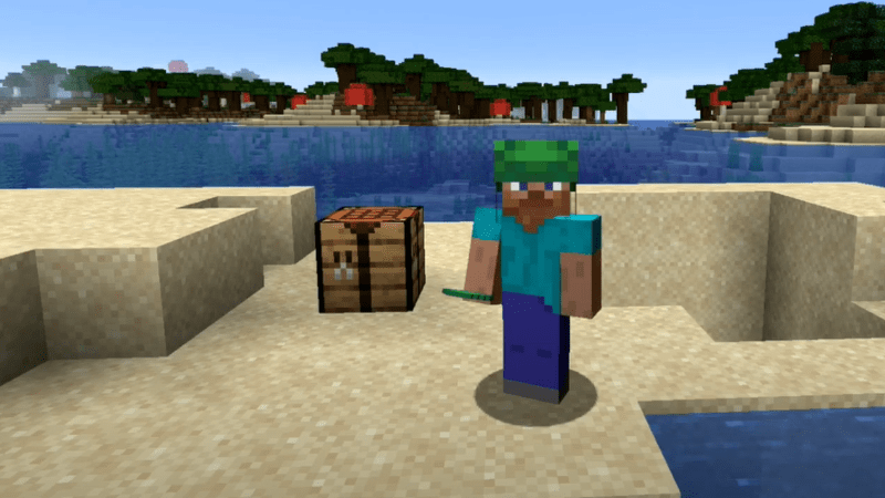 How to make a turtle helmet in Minecraft