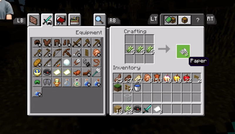 Move paper to inventory
