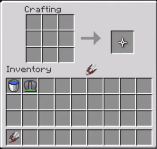 Move The Shears To Your Inventory