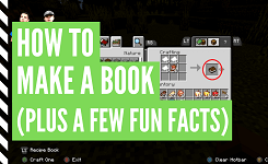 How To Make Books In Minecraft