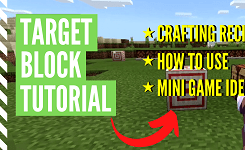How To Make & Use A Target Block In Minecraft
