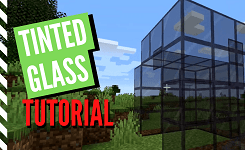 How To Craft Tinted Glass In Minecraft